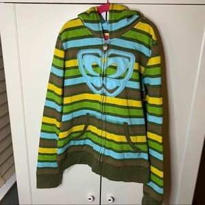 Girl's Sideout Butterfly Striped Volleyball Hoodie